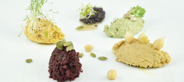 Pesto, tapenade, mousse & houmous